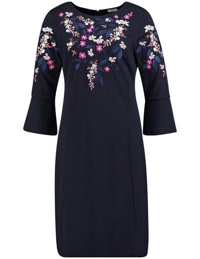 Gerry Weber Kleid Gewirke Kleid mit Blütenstickerei