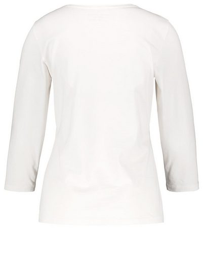 Gerry Weber T-Shirt 3/4 Arm 3/4 Arm Shirt mit Stickerei organic cotton