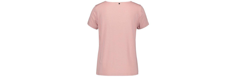Taifun T-Shirt Kurzarm Rundhals Blusenshirt mit Satin-Front 2018 Neuer Online-Verkauf Freies Verschiffen Günstig Online Die Besten Preise Günstig Online RGkXkC
