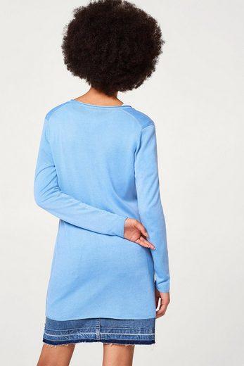 ESPRIT Langer Feinstrick-Cardigan in femininem Style