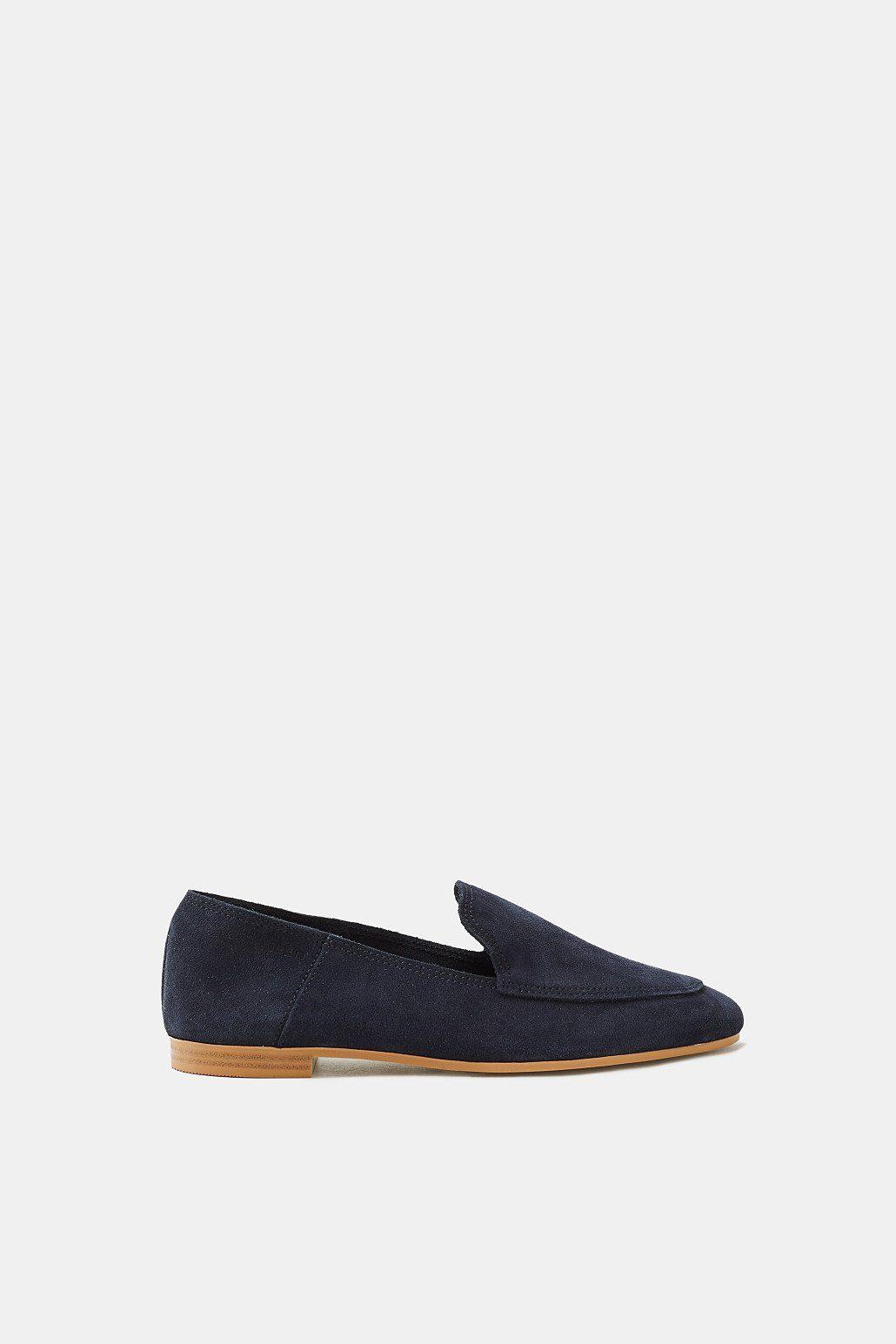 ESPRIT Loafer aus softem Veloursleder kaufen  NAVY