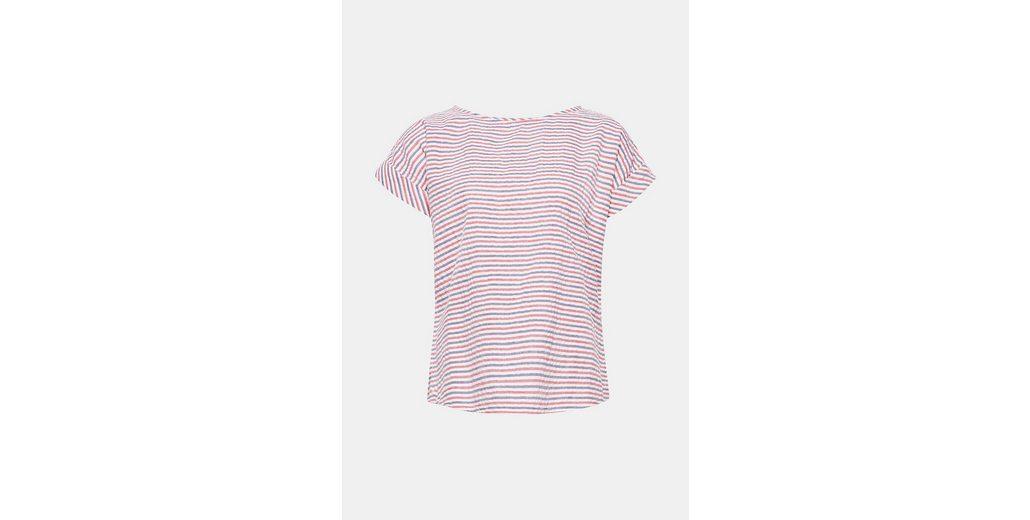 ESPRIT Seersucker-Bluse im Maritim-Look, 100% Baumwolle