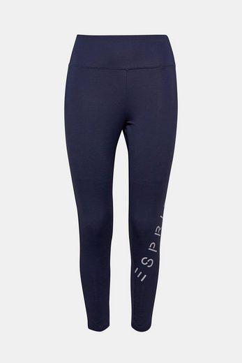 ESPRIT Verkürzte Active Pants mit Logo-Print, E-DRY
