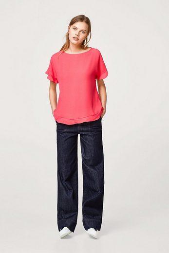 ESPRIT COLLECTION Leichte Bluse mit Rüschen-Details