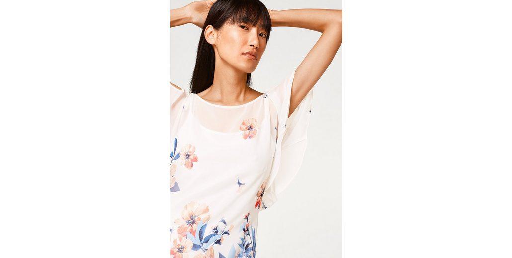 Erschwinglich Footlocker Bilder ESPRIT COLLECTION Zartes Chiffon-Kleid mit Print und Flügelärmeln Verkauf 100% Authentisch qDMTfh1NnW