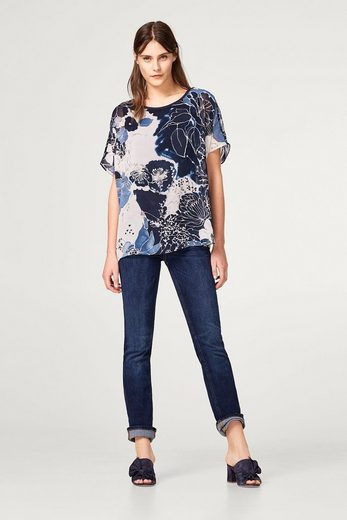 ESPRIT COLLECTION Oversize-Blusen-Shirt mit dekorativem Blumen-Print