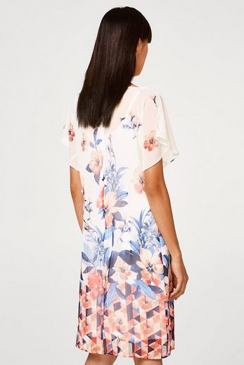 Esprit Collection Delicate Chiffon Dress With Print And Wing Sleeves