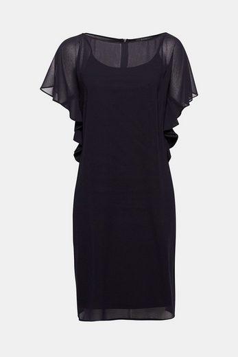 ESPRIT COLLECTION Zartes Chiffon-Kleid mit Flügelärmeln