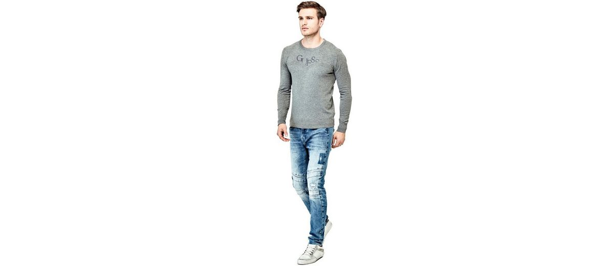 Guess PULLOVER FRONTLOGO Professionelle Online Q3QrMj4