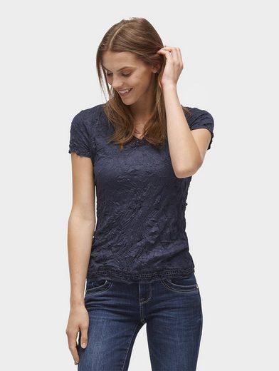 Tom Tailor T-Shirt T-Shirt mit permanenten Crinkles