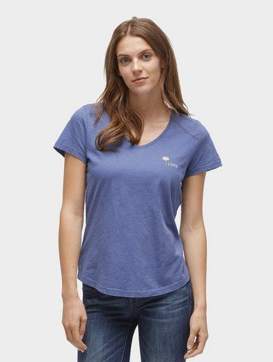 Tom Tailor T-Shirt T-Shirt mit Stickerei auf der Brust