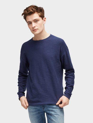 Tom Tailor Denim Rundhalspullover Pullover mit Rollkante