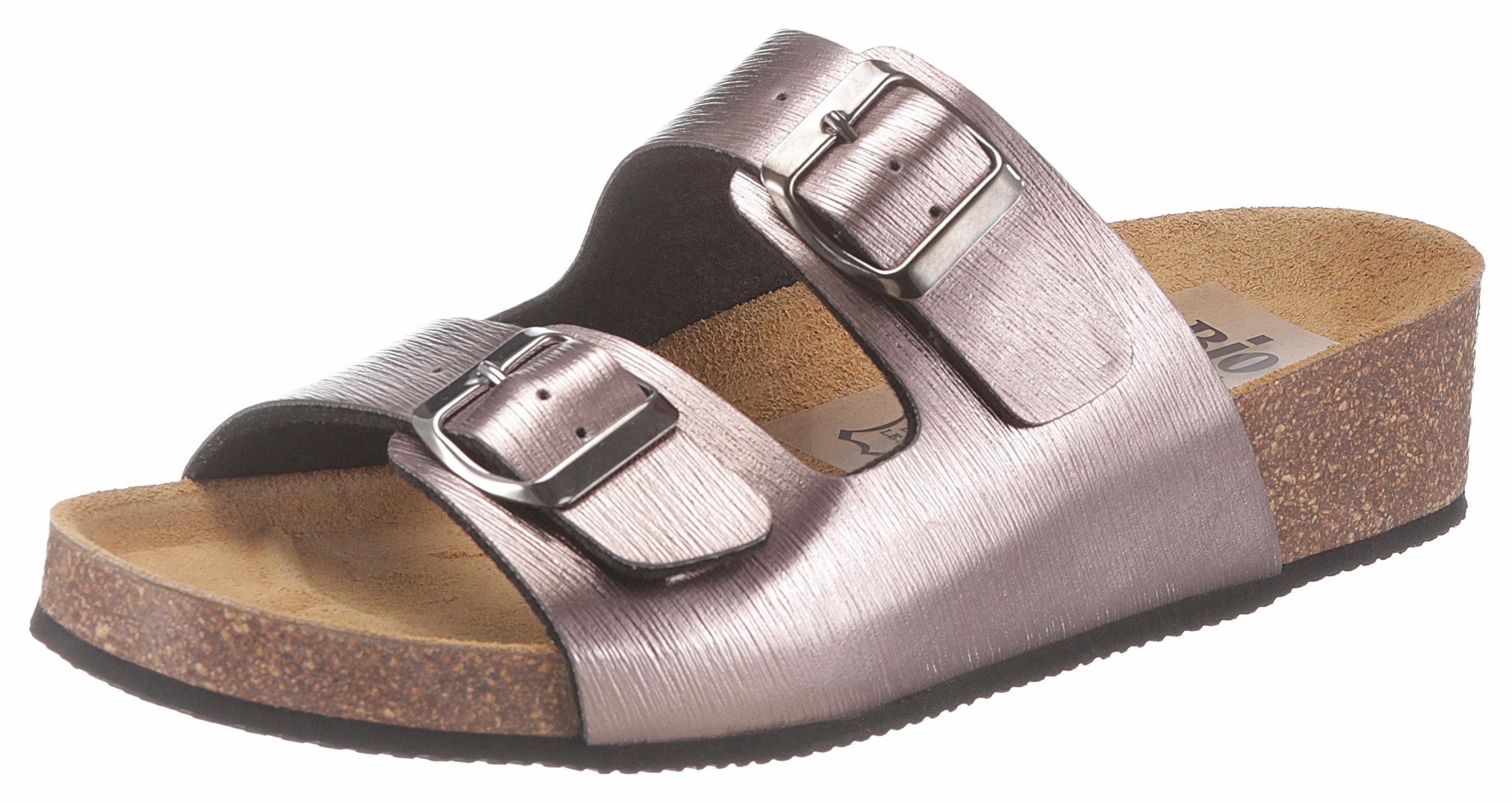 Bio Time Pantolette, im Metallic-Look kaufen  bronzefarben