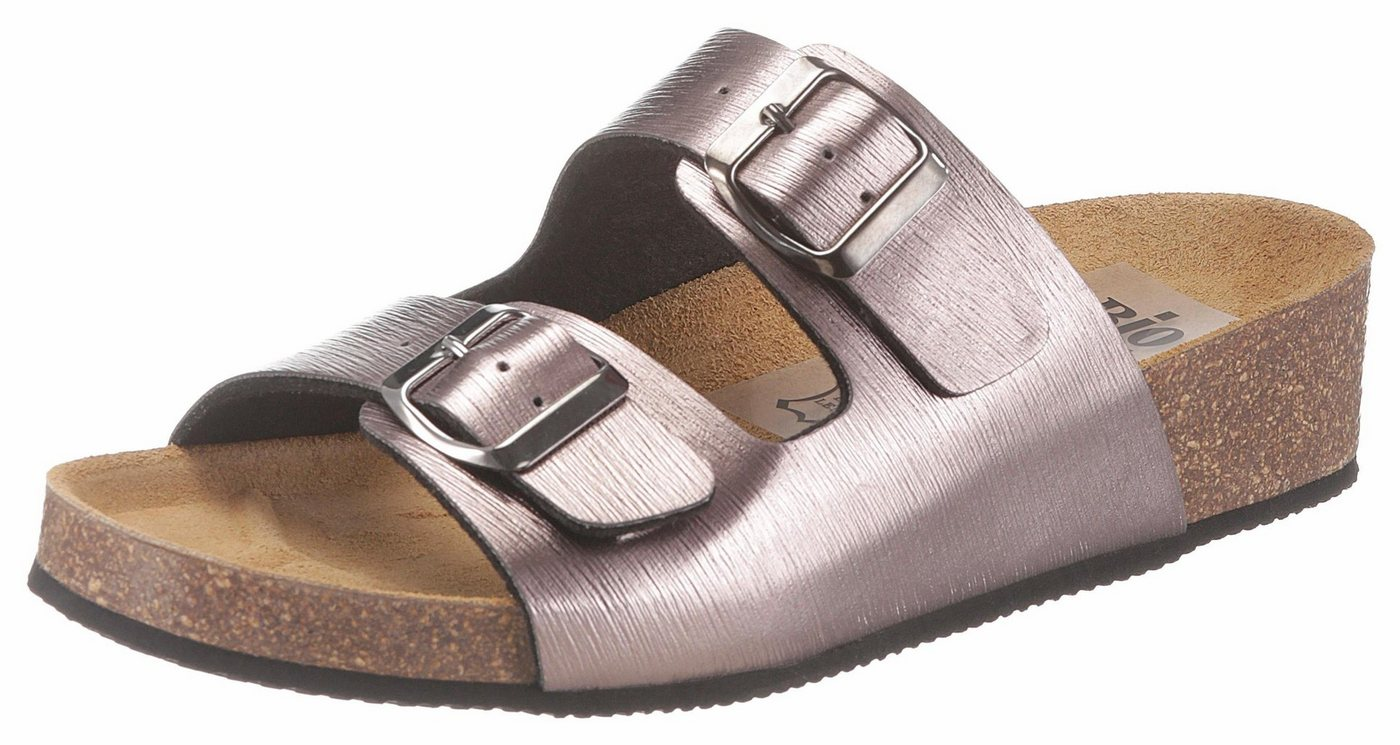 Bio Time Pantolette im Metallic-Look | Schuhe > Clogs & Pantoletten | Gelb | Bio Time