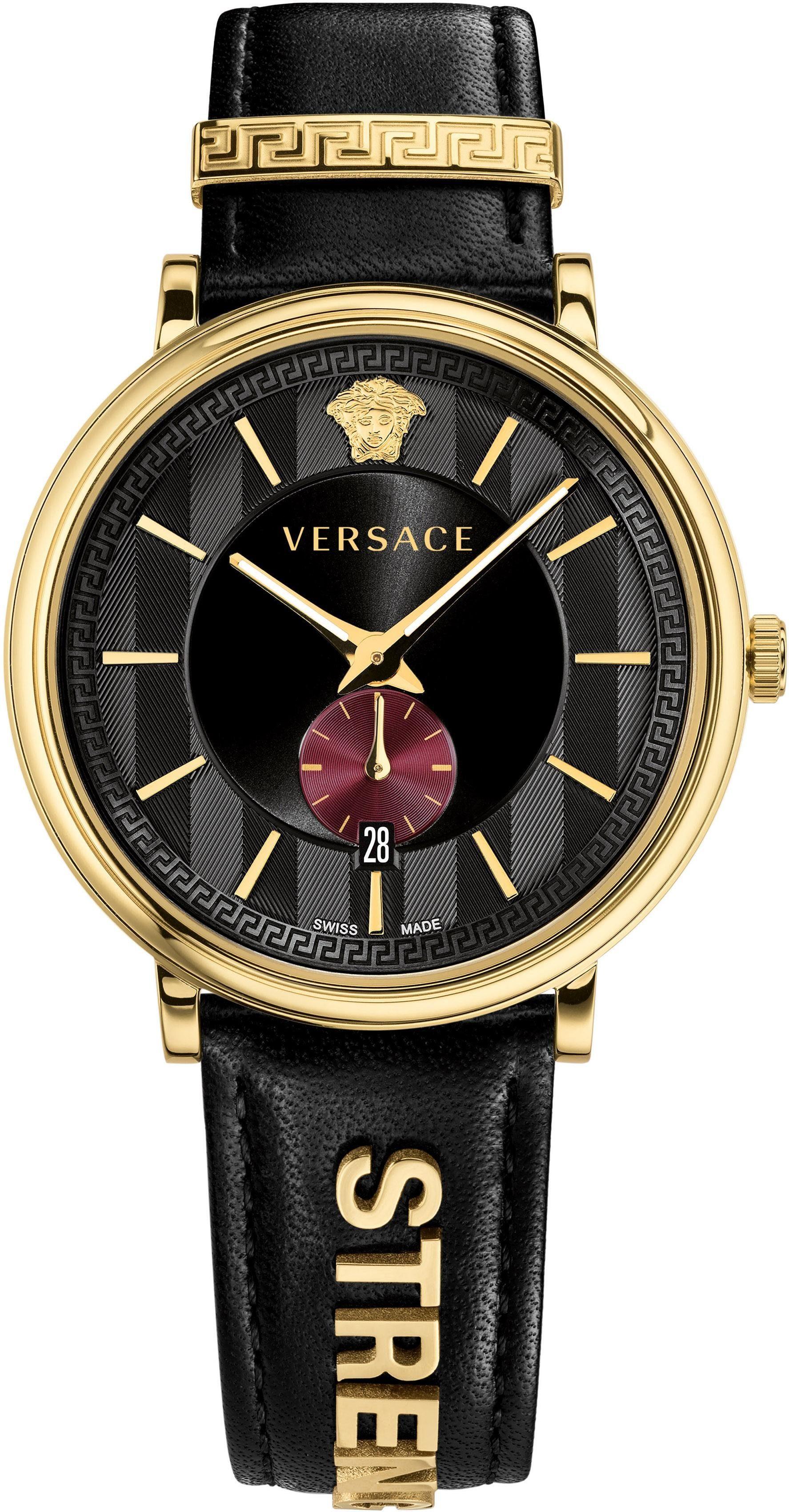 Versace Schweizer Uhr »V-CIRCLE, VBQ050017« (Set, 2 tlg) mit 1 Wechselband