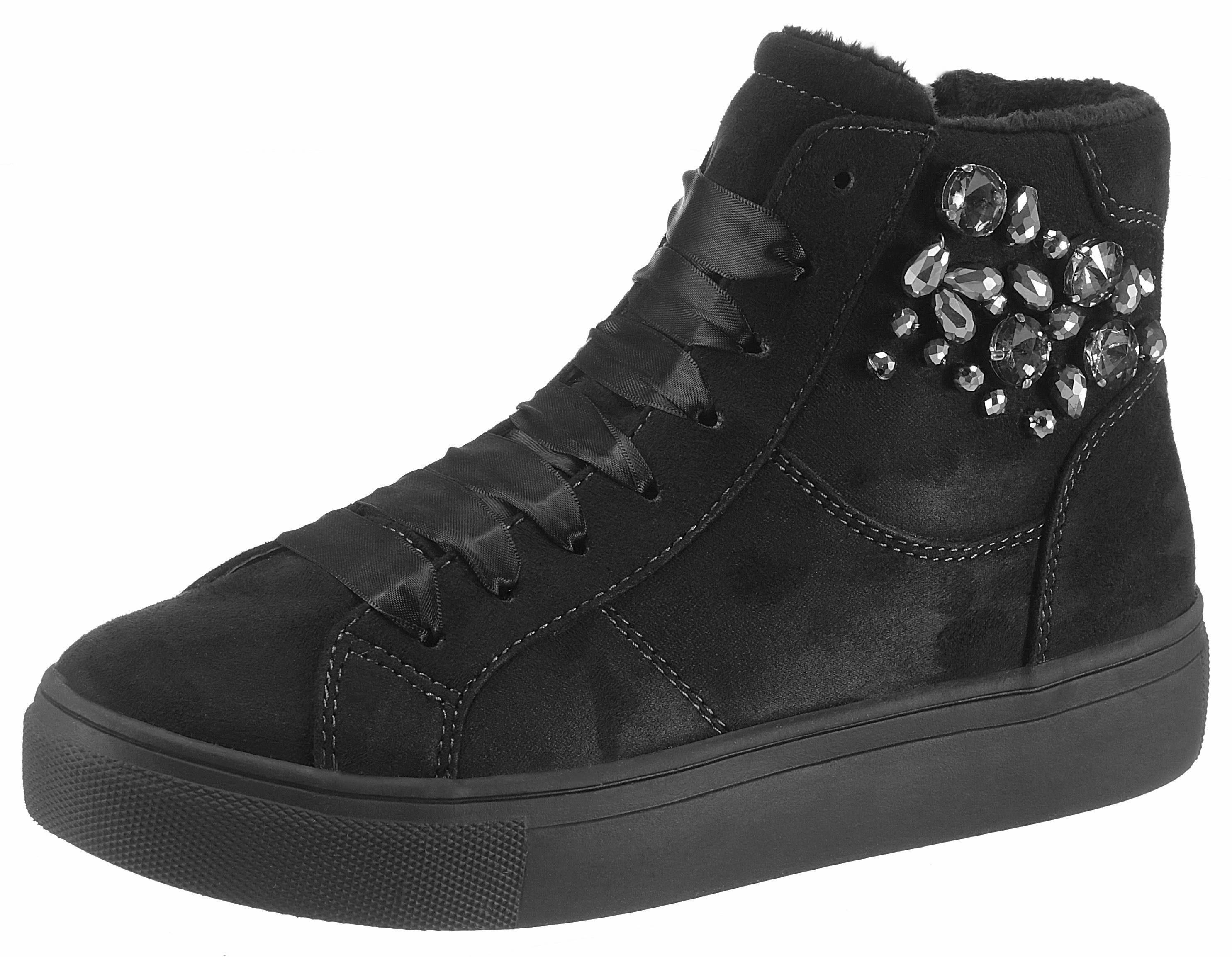 Supremo Sneaker, mit Schmucksteine besetzt kaufen  schwarz