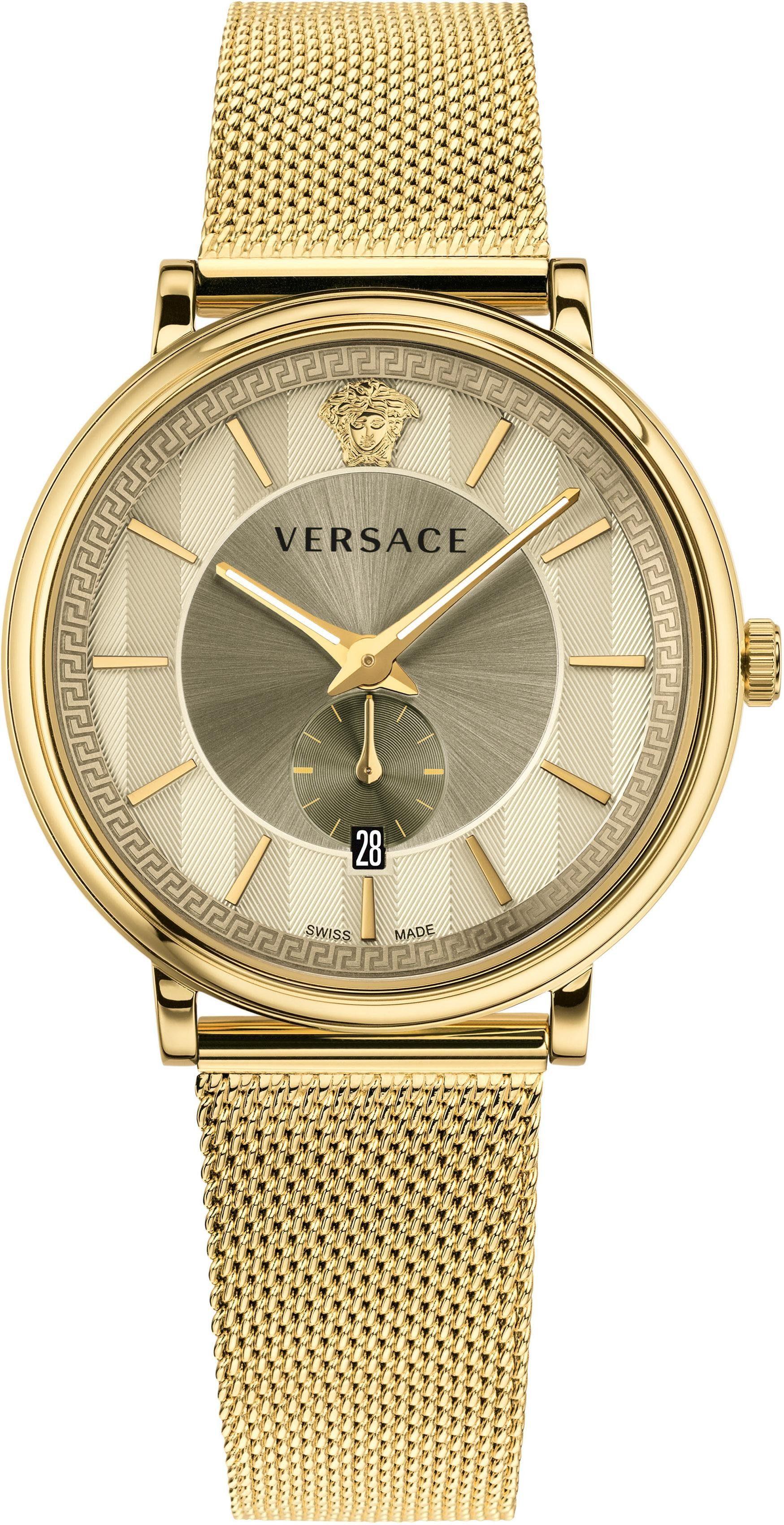 Versace Schweizer Uhr »V-CIRCLE, VBQ070017«, mit kleiner Sekunde
