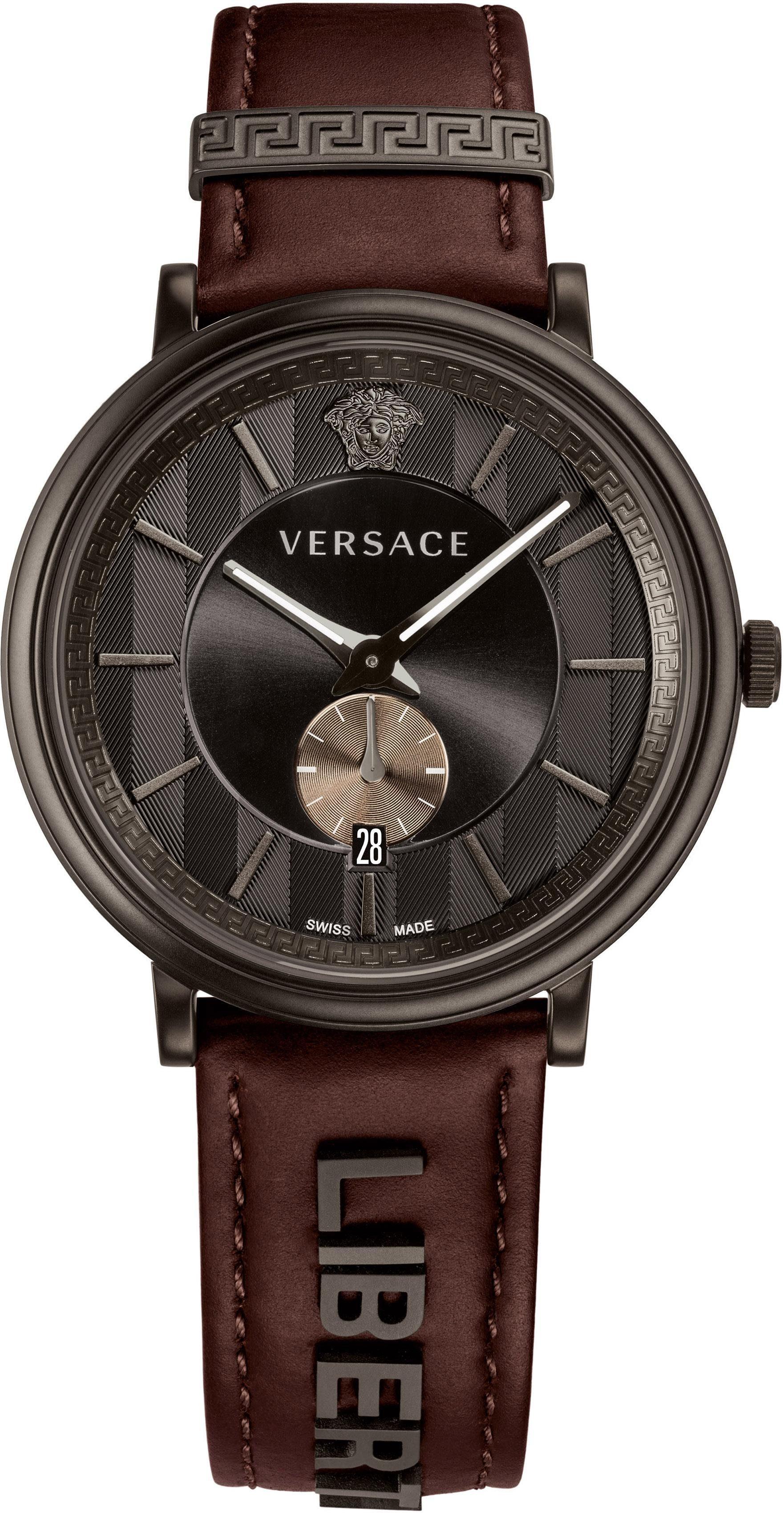 Versace Schweizer Uhr »V-CIRCLE, VBQ040017« (Set, 2 tlg) mit 1 Wechselband