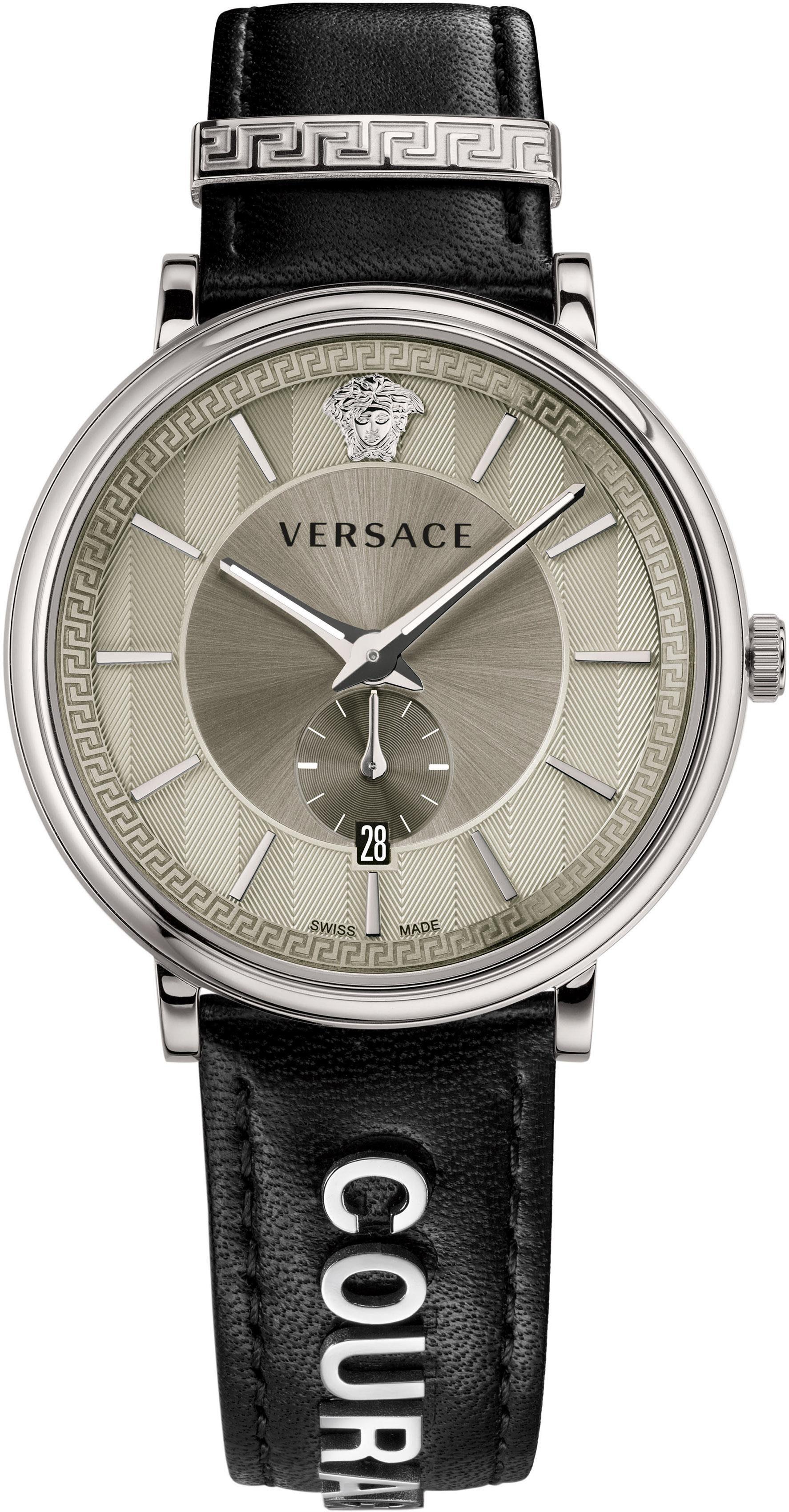 Versace Schweizer Uhr »V-CIRCLE, VBQ080017« (Set, 2 tlg) mit 1 Wechselband