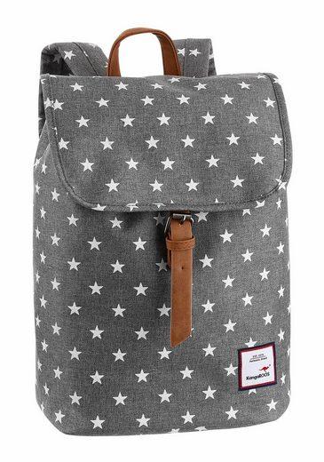 KangaROOS Cityrucksack, in modischer Form mit Sternen Print