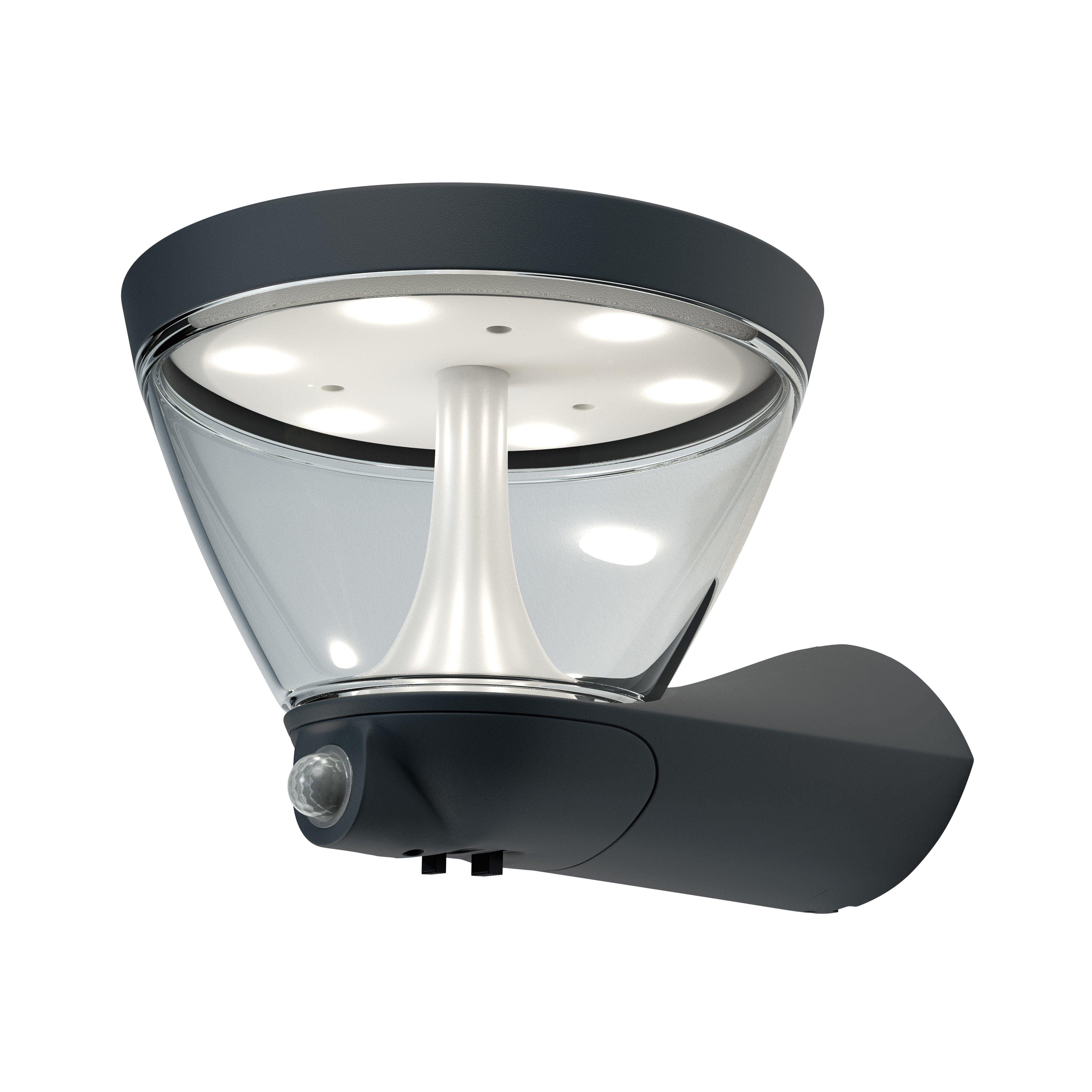 Osram LED-Wandleuchte mit integriertem Bewegungsmelder »ENDURA STYLE Lantern Solar/AC 5W«
