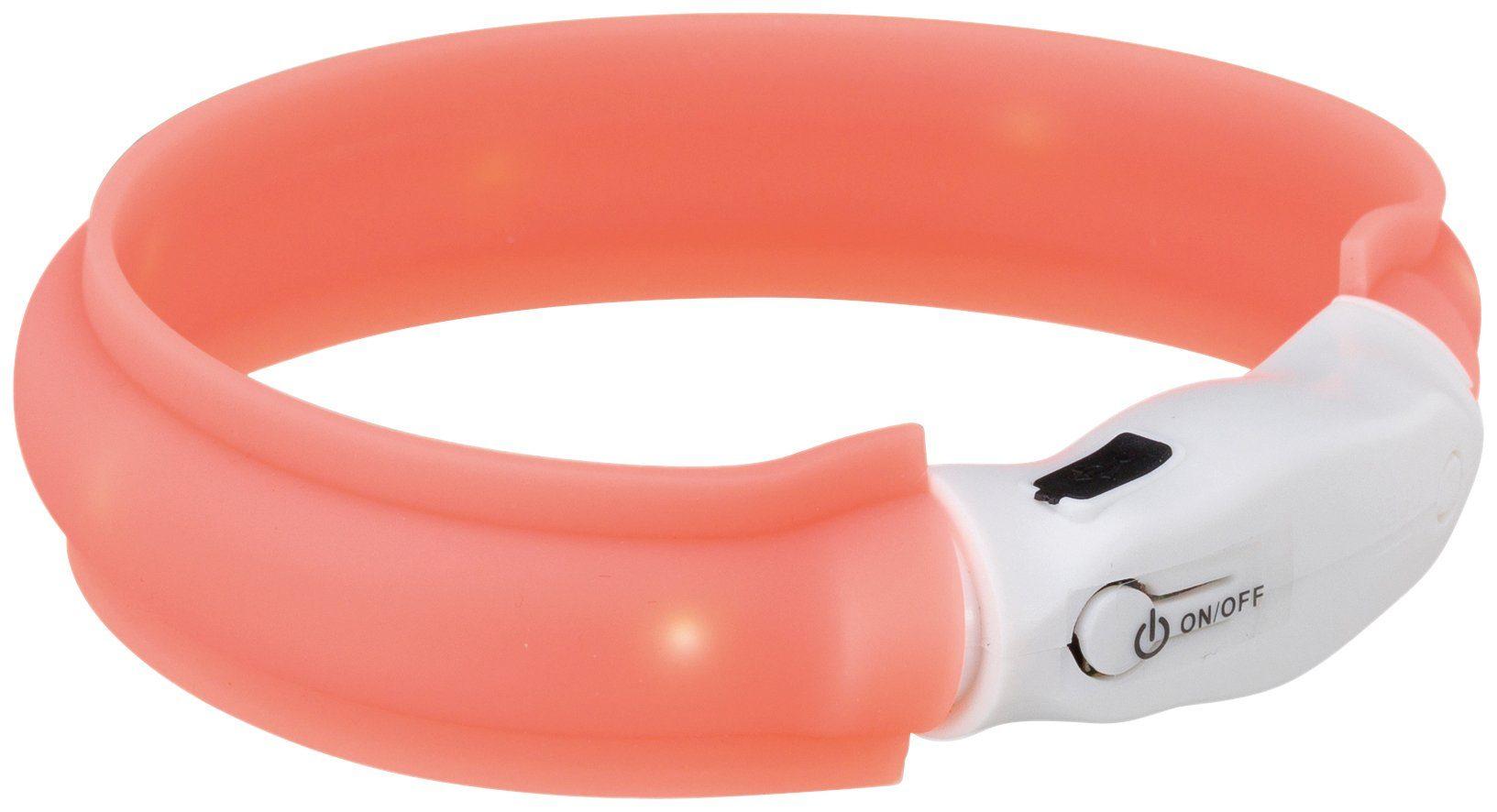 TRIXIE Leuchthalsband , USB aufladbar, für Halsumfang 35 cm