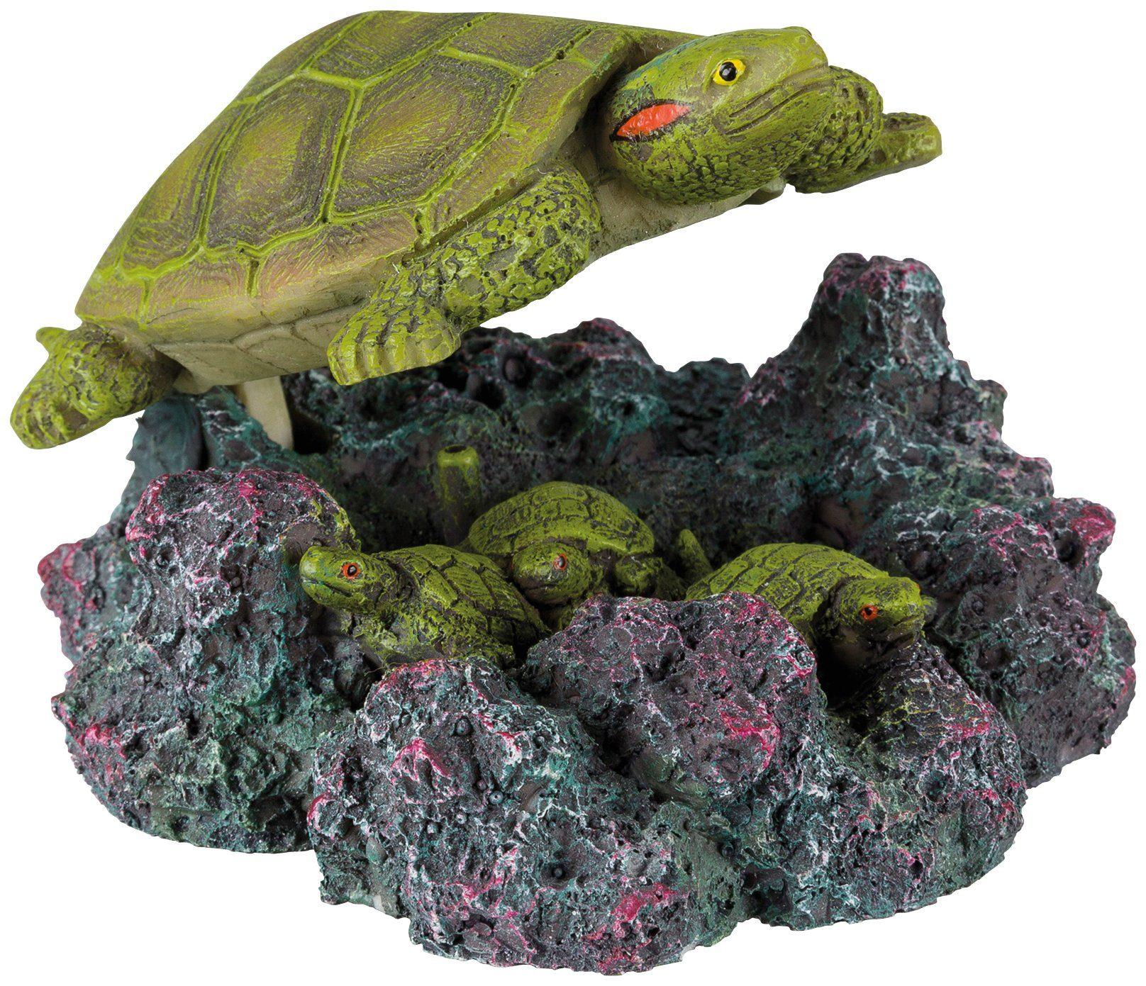TRIXIE Aquariendeko , Schildkröte mit Ausströmer