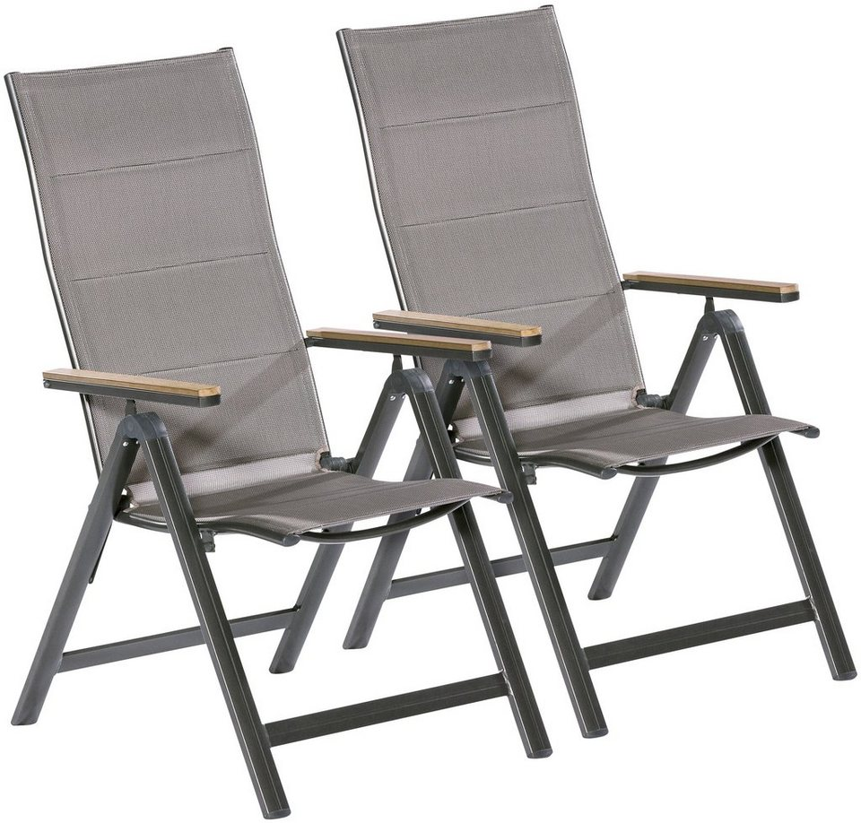 merxx gartenstuhl trivero 2er set alu textil. Black Bedroom Furniture Sets. Home Design Ideas