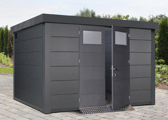 WOLFF Stahlgerätehaus »Eleganto 3330«, BxT: 348x318 cm, anthrazit