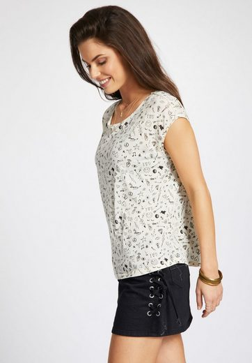 khujo T-Shirt SUNYA MINIMAL, mit All-over Print