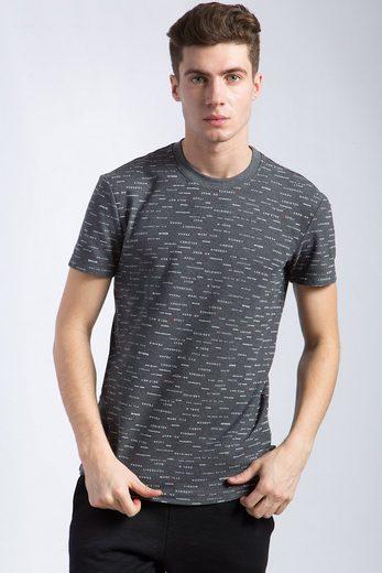 Finn Flare T-Shirt mit dezentem Print