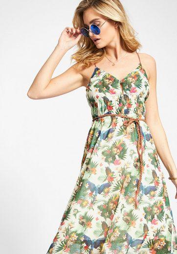 khujo Sommerkleid XANTHIA, mit Kunstlederdetails