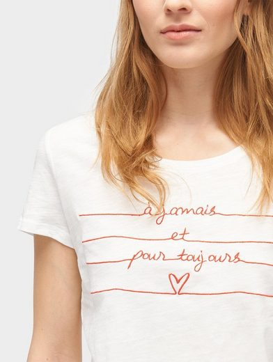 Tom Tailor Denim T-Shirt T-Shirt mit Schrift-Print