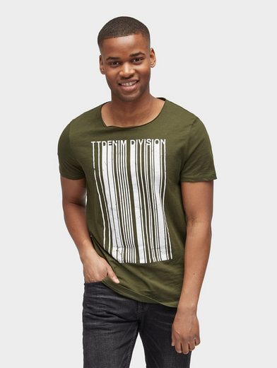 Tom Tailor Denim T-Shirt T-Shirt mit Motiv-Print