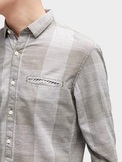 Tom Tailor Denim Hemd kariertes Hemd mit Brusttasche