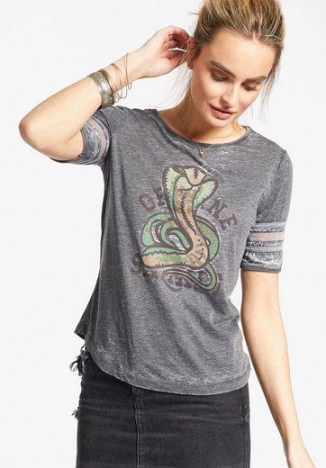 khujo T-Shirt NIHITA, mit Print