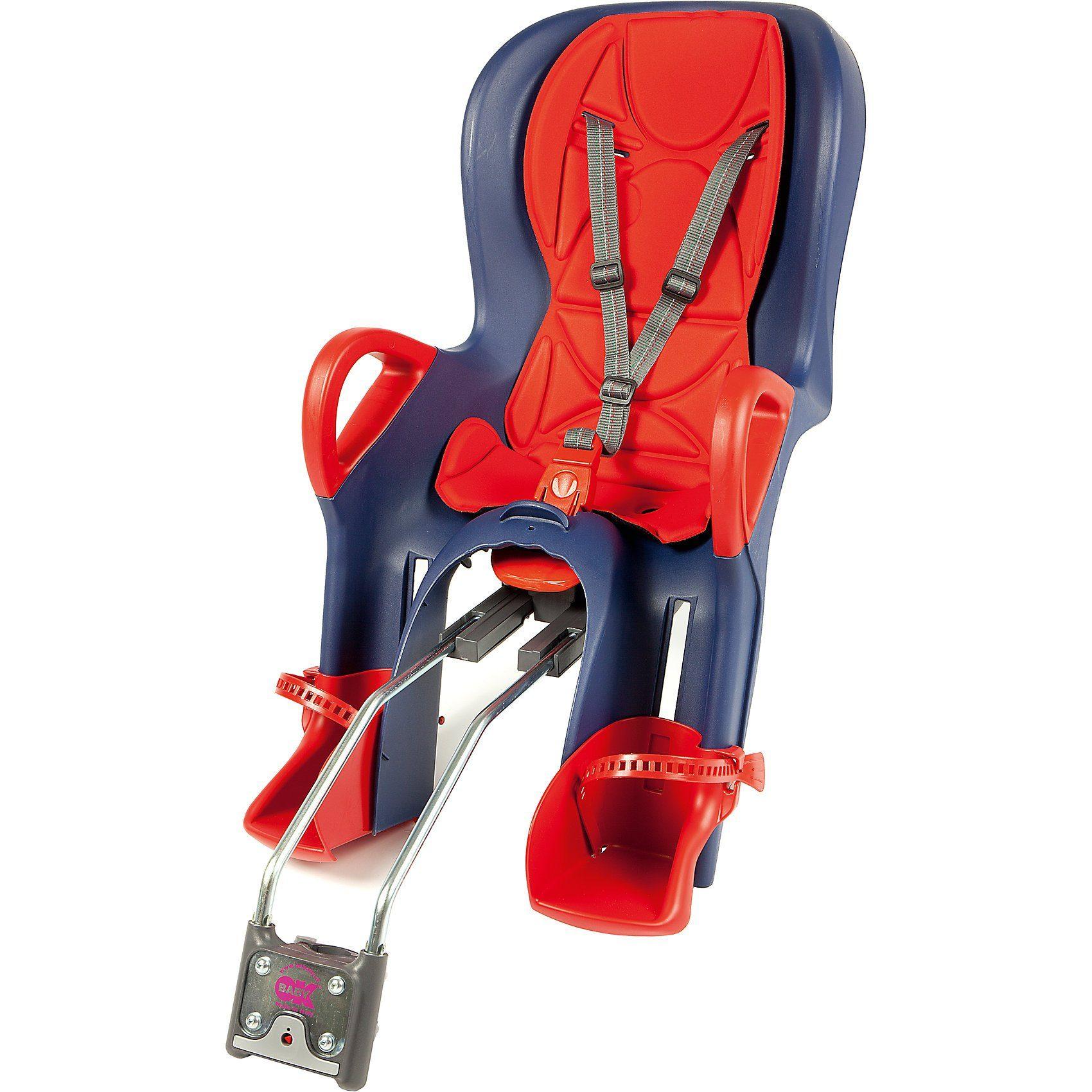OK Baby Fahrrad-Sicherheitssitz 10+ inkl. Befestigungssystem, red /