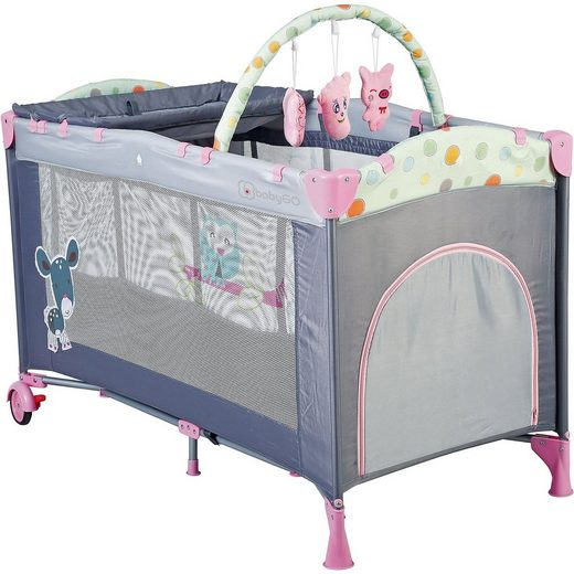 BabyGo Reisebett Sleep Well, pink