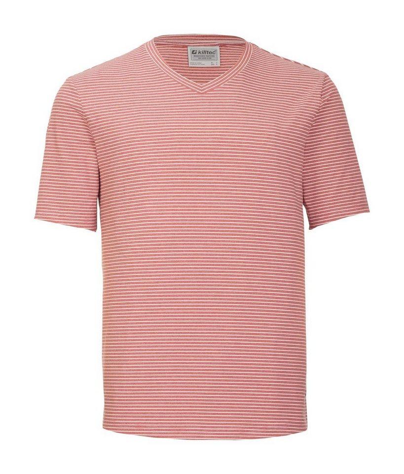 Herren Killtec T-Shirt Renley rot | 04056542790509