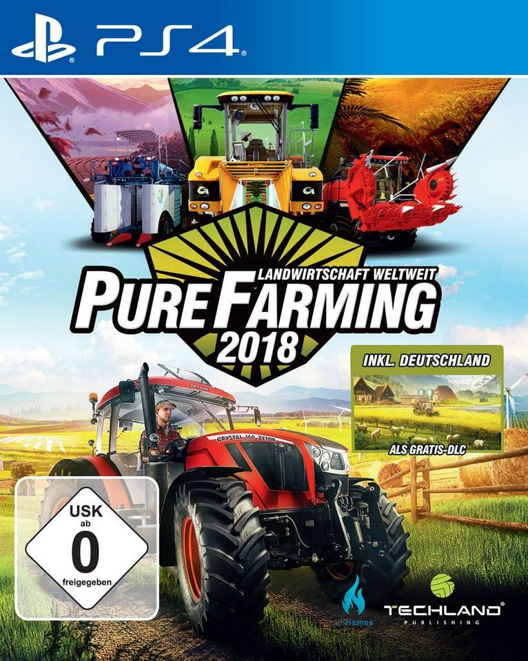 koch media playstation 4 spiel pure farming 2018 day. Black Bedroom Furniture Sets. Home Design Ideas