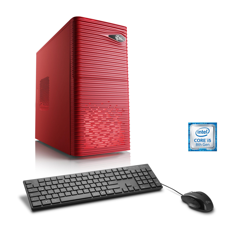 CSL Gaming PC | Intel Core i5-8400 | GTX 1050 Ti | 8 GB DDR4 RAM »Speed T5312 Windows 10 Home«