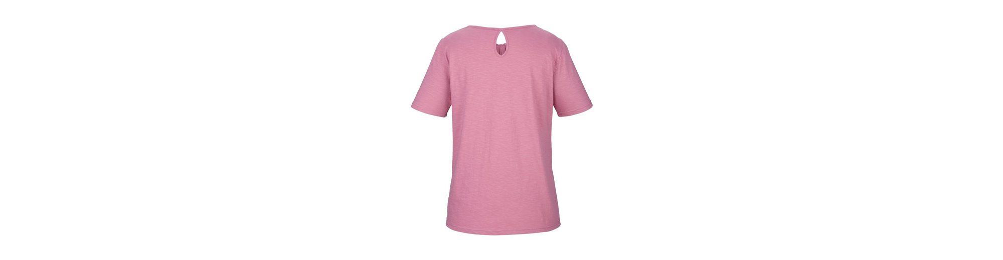 Shirt MIAMODA sch枚ner Ausschnitt am Shirt mit mit sch枚ner MIAMODA Spitze vSBq5xw