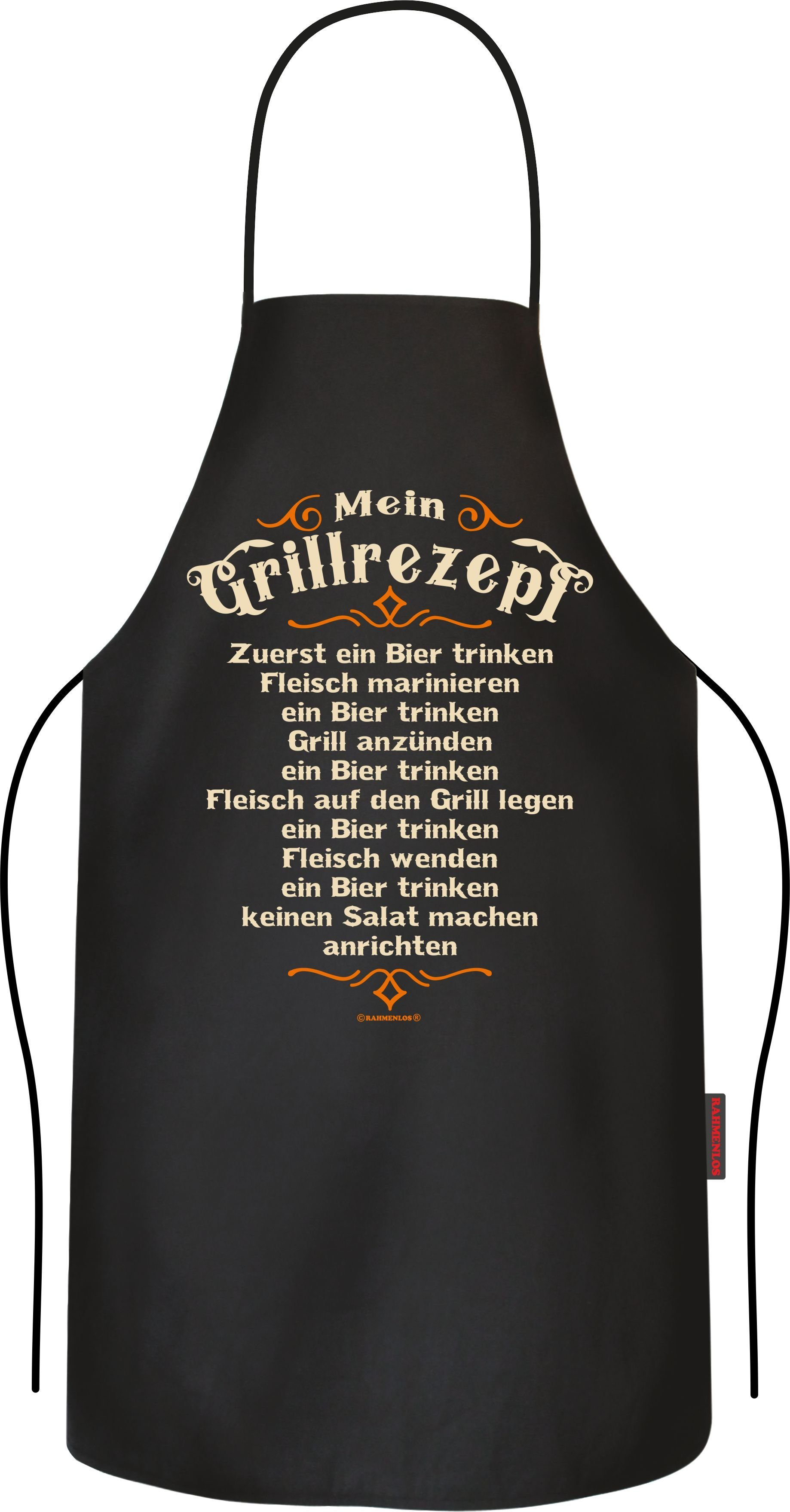 Rahmenlos BBQ-Grillschürze mit Grillrezept