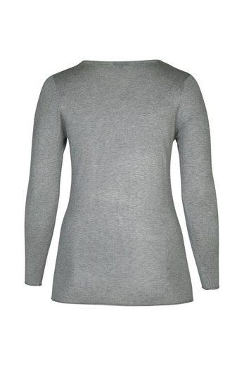 Paprika V-Ausschnitt-Pullover