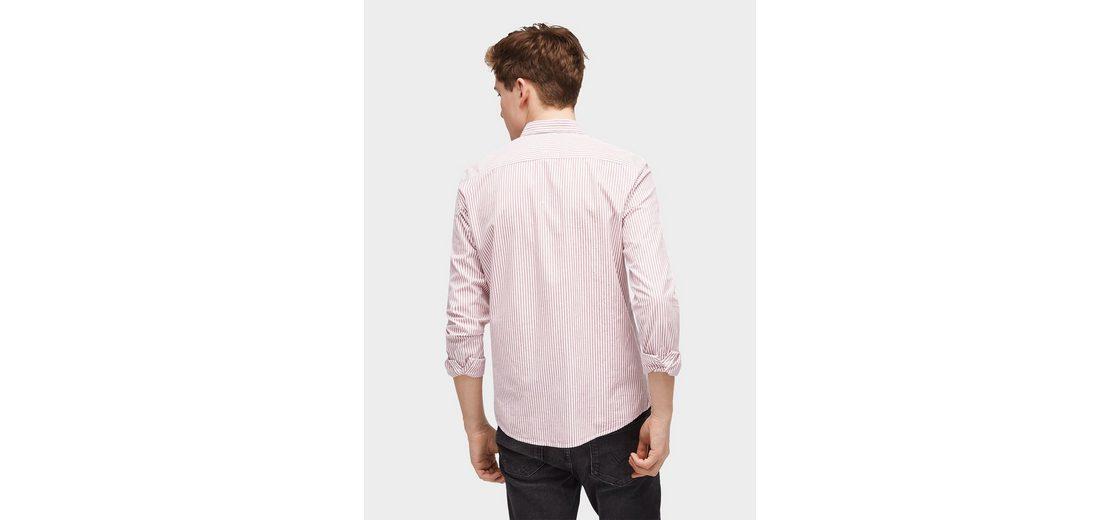 2018 Neuester Günstiger Preis Billig Verkauf Kauf Tom Tailor Denim Hemd gestreiftes Hemd mit Brusttasche Billig Exklusiv Sammlungen Günstig Online DgMAII