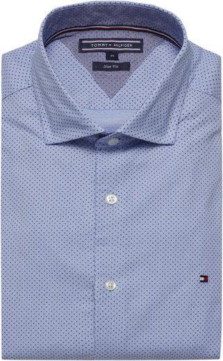 Tommy Hilfiger Hemd Slim Dot Printed Stripe Shirt