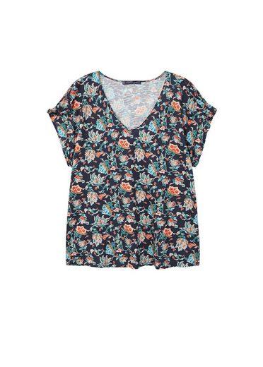 VIOLETA by Mango T-Shirt aus Bio-Baumwolle mit Blumenmotiv