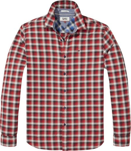 Tommy Jeans Hemd TJM ESSENTIAL WASHED CHECK SHIRT