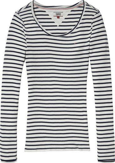 Tommy Jeans T-Shirt TJW STRIPE RIB LONGSLEEVE