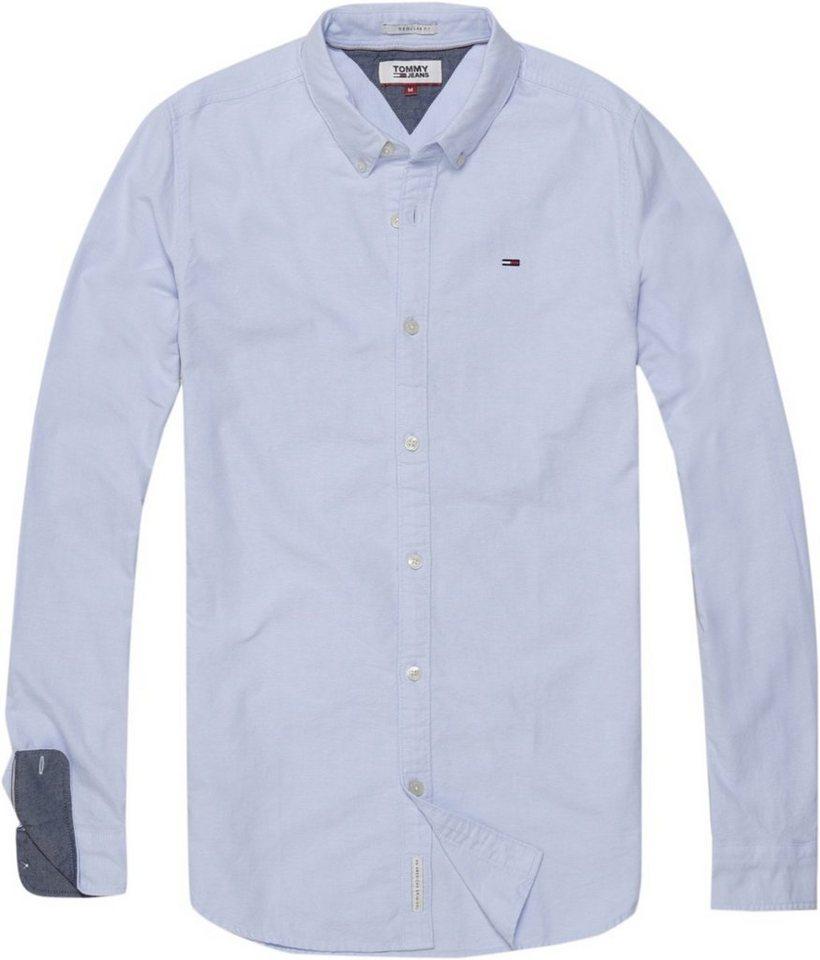 Tommy Jeans Hemd »TJM BASIC SOLID SHIRT L/S 26« | Bekleidung > Hemden > Jeanshemden | Blau | Baumwolle | Hilfiger Denim
